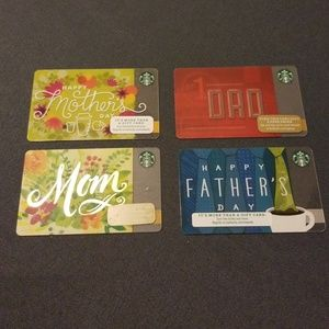 Lot of 4 Mothers and fathers day cards $0 Value.